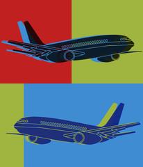 Avion multicolore