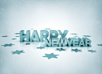 Happy newyear gold illustration on white