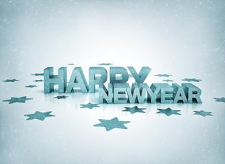 Happy newyear gold illustration on white