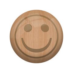 Bouton en bois sans ombre : bonne qualité