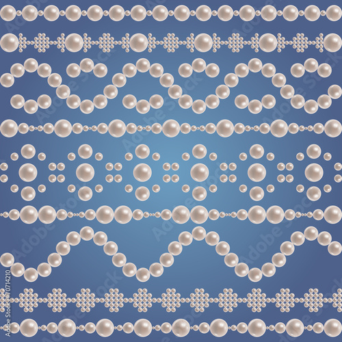 Pearl borders collection - 70714210