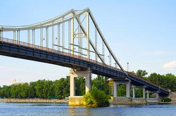 Park Bridge - a pedestrian bridge across Dnieper River