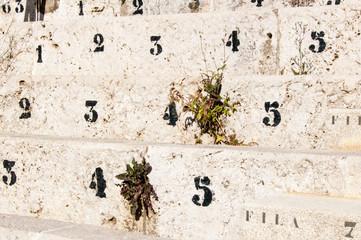 Plaza de Toros - Malaga - Sitzreihen aus Stein, Stierkampfarena