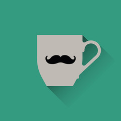 cup with mustache icon