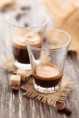 Ristretto and espresso.