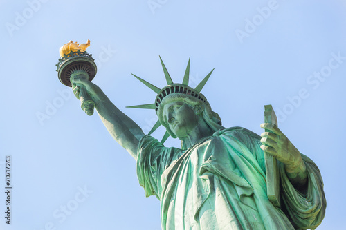 Statue of Liberty on a Sunny Day - 70717263