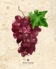 Grapes. Vector format