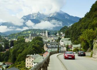 Berchtesgaden landscape in Alps