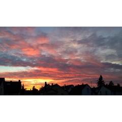 Der schöne Sonnenuntergang von Eberstadt