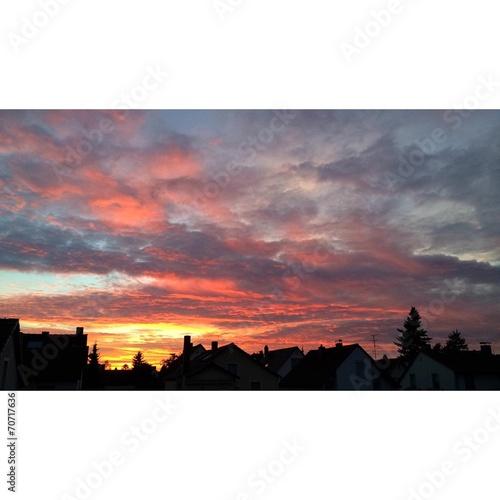 canvas print picture Der schöne Sonnenuntergang von Eberstadt