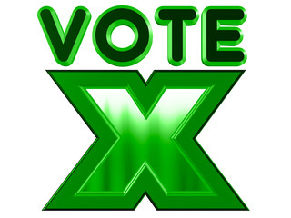 Vote sign in green