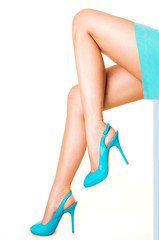 Woman legs with high heels