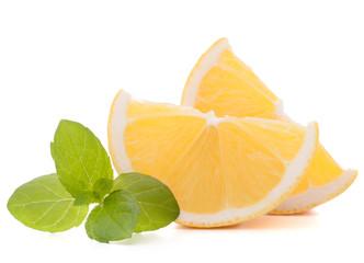 Lemon or citron citrus fruit slice