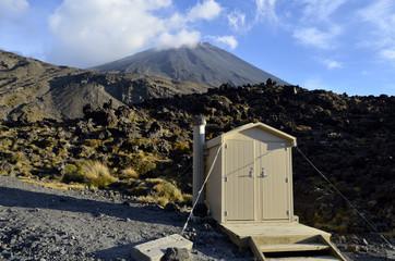 Neat toilet cabin at Tongariro trek in NZ.