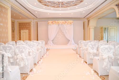 Foto op Canvas Lilac wedding ceremony