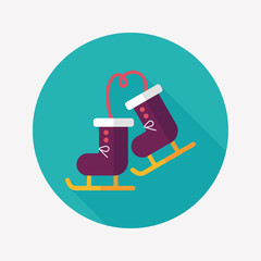 ski boot flat icon with long shadow,eps10