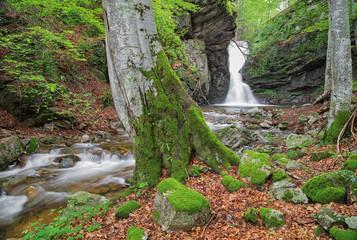 Small waterfall In Balkan Mountains