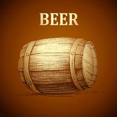beer keg  for label, package