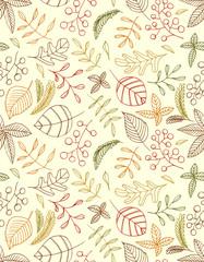 autumn leaves seamless background. defoliation. leaf fall