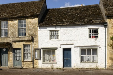 white painted stone cottage, Lacock