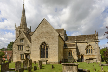 Church from south east , Lacock