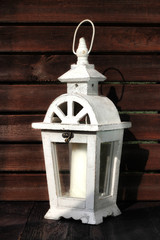 White gardens lantern