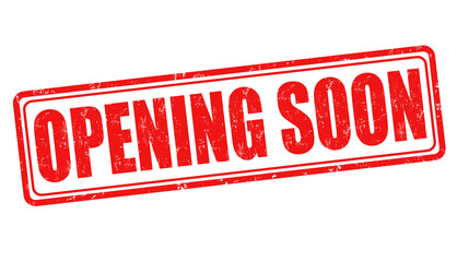 Opening soon stamp