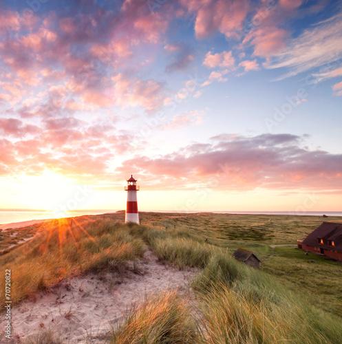 canvas print picture Sonnenaufgang auf der Insel