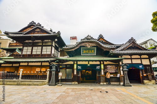 Foto op Plexiglas Japan Dogo Onsen Honkan is the one of the oldest bathhouse in Japan