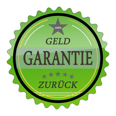 ql18 QualityLabel - Geld Zurück Garantie - grün g1793