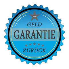 ql19 QualityLabel - Geld Zurück Garantie - blau g1794