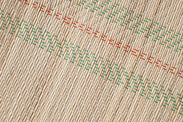 Bamboo mat pattern, detailed background photo texture