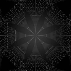 black pattern background.