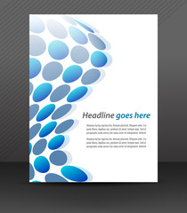 Business flyer template or corporate banner, cover design