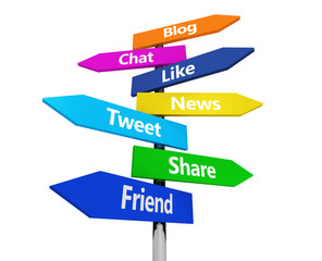 Social Media Web Sign Post