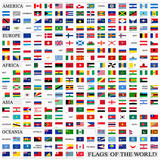 Fototapety World flags with proportion 3:5, by continents