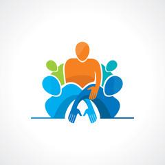 Vector togetherness concept illustration.