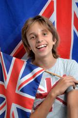 Prêt pour l'anglais 03 - Enfant drapeau Union Jack