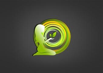 Natural Beauty logo Vector