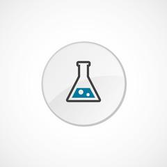 laboratory icon 2 colored .