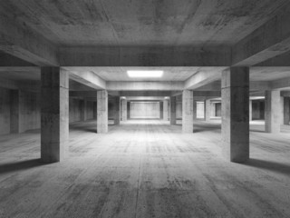 Empty dark abstract industrial concrete interior. 3d illustratio
