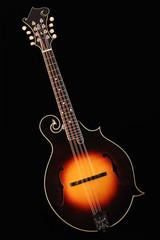 Mandolin isolated on black