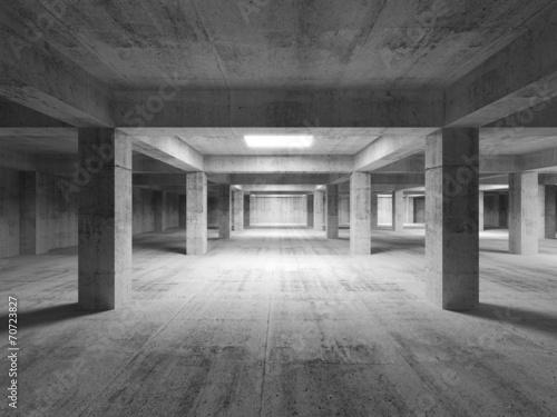 pusty-ciemny-abstrakcjonistyczny-przemyslowy-betonowy-wnetrze-3d