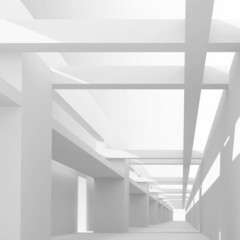 Abstract architecture 3d background with perspective view of emp