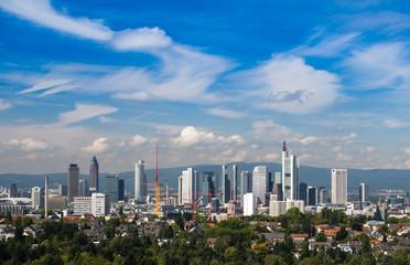 Skyline of Frankfurt, Germany,