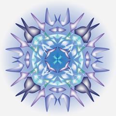 snowflake christmas kaleidoscope