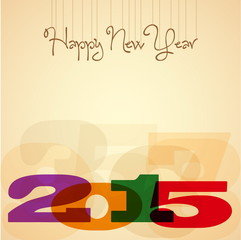 2015, Happy New Year Greeting Design Layout In Vector Format, vi