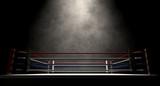 Fototapety Boxing Ring Spotlit Dark
