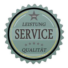 ql25 QualityLabel - Leistung Service Qualität - türkis g1800