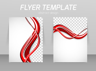 Flyer back and front design template